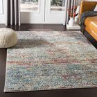 Kaiden Distressed Southwestern Teal/Garnet Area Rug Rug Size: Rectangle 5'3