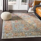 Kaiden Distressed Vintage Saffron/Teal Area Rug Rug Size: Rectangle 3'3