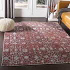 Kaiden Distressed Red Area Rug Rug Size: Rectangle 3'11