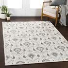 Gannon Medallion Taupe/Ivory Area Rug Rug Size: Rectangle 5'3