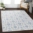 Gannon Medallion Blue/Ivory Area Rug Rug Size: Rectangle 7'10