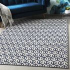Hyacinth Modern Geometric Navy/Gray Area Rug Rug Size: Rectangle 7'10