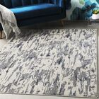 Hyacinth Modern Abstract Charcoal/Blue Area Rug Rug Size: Rectangle 5'3