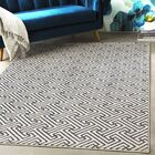 Hyacinth Modern Geometric Navy/Ivory Area Rug Rug Size: Rectangle 3'11