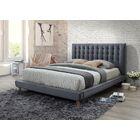 Carl Upholstered Platform Bed Color: Gray, Size: Queen