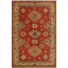 One-of-a-Kind Eva Super Kazak Hand-Knotted Wool Red/Light Gold Area Rug