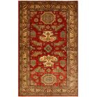 One-of-a-Kind Nathan Super Kazak Hand-Knotted Wool Red/Light Tan Area Rug