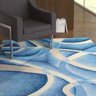 Squires Swirls Abstract Blue Area Rug Rug Size: Rectangle 6'5