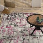 Despain Gray/Pink Area Rug Rug Size: Rectangle 8' x 10'