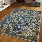 Rackers Blue/Green Area Rug Rug Size: Rectangle 10' x 13'