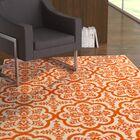 Merdasa Orange Area Rug Rug Size: Rectangular 5' x 7'3