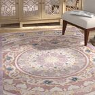 Elana Purple/Cream Area Rug Rug Size: Rectangle 5'1