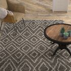 Lannie Gray/Ivory Area Rug Rug Size: Square 5'