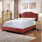 Audrey Upholstered Platform Bed Size: Full, Color: Burgundy