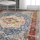 Hartl Inspiration Vintage Medallion Navy/Brown Area Rug Rug Size: Rectangle 7'10