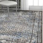 Hartl Dramatic Gray/White Area Rug Rug Size: Rectangle 5'3