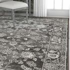 Hartl Passion Floral Gray/White Area Rug Rug Size: Rectangle 5'3