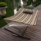 Lazy Daze Double Tree Hammock with Stand Color: Classic Brown Stripe