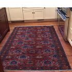 One-of-a-Kind Fetzer Afghan Ersari Wide Oriental Hand-Knotted Red Area Rug