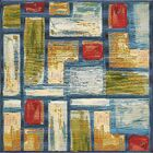 Aroma Blue Indoor/ Outdoor Area Rug Rug Size: Square 6'