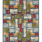 Aroma Blue Indoor/ Outdoor Area Rug Rug Size: Rectangle 9' x 12'
