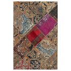 One-of-a-Kind Lavanya Hand-Knotted Wool Brown Area Rug