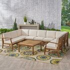 Rodden 10 Piece Sectional Set with Cushions Cushion Color: Cream