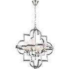 Lotus Arabesque 4-Light Geometric Chandelier Finish: Burnished Brass/Black