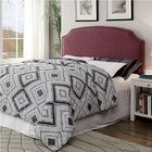 Annabel Upholstered Panel Headboard Size: Queen/Full Size, Upholstery: Purple