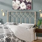 Hasse Open-Frame Headboard Color: Brushed Gold, Size: Queen