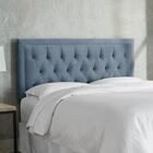 Leahy Tufted Upholstered Panel Headboard Size: California King, Color: Ocean