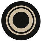 Don Hand-Braided Black/Beige Indoor/Outdoor Area Rug Rug Size: Round 10'