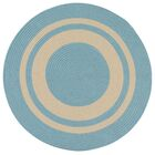 Don Hand-Braided Blue/Beige Indoor/Outdoor Area Rug Rug Size: Round 8'