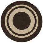Don Hand-Braided Brown/Beige Indoor/Outdoor Area Rug Rug Size: Round 12'