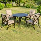 Kemper 5 Piece Dining Set with Cushions