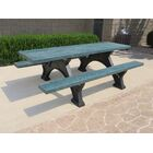 Simon Step Over Plastic Picnic Table Top Color: Green, Table Top Size: 30.875