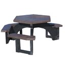 Simms Plastic Picnic Table Top Color: Brown
