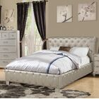 Amanda Upholstered Sleigh Bed Size: King, Color: Silver