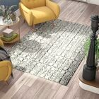 Naples Park Hand Tufted Wool Ivory Area Rug Rug Size: Rectangle 4' x 6'