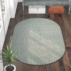 Lissie Hand-Woven Cotton Blue Area Rug Rug Size: Oval 8' x 10'