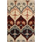 One-of-a-Kind Lusk Hand Knotted Wool Burgundy/Ivory Area Rug