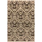One-of-a-Kind Lusk Hand Knotted Wool Charcoal/Tan Area Rug