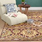 Charmine Red/Green Area Rug Rug Size: Rectangle 8' x 10'