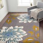 Kendal Floral Large Beige/Gray Area Rug Rug Size: Rectangle 7'10