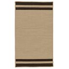 Kellie Stripe Hand-Braided Brown/Mink Indoor/Outdoor Area Rug Rug Size: Rectangle 6' x 9'
