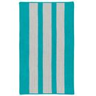 Wes Vertical Stripe Hand-Braided Gray/Turquoise Indoor/Outdoor Area Rug Rug Size: Rectangle 4' x 6'