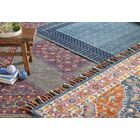 Jovany Hand-Hooked Navy/Pink Area Rug Rug Size: Rectangle 7'9