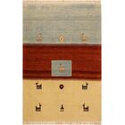 One-of-a-Kind Lyles Hand-Knotted Wool Ivory/Light Blue Area Rug