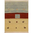One-of-a-Kind Lyles Hand-Knotted Wool Light Blue/Ivory Area Rug