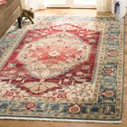 Land Blue/Red Area Rug Rug Size: Rectangle 8' x 10'